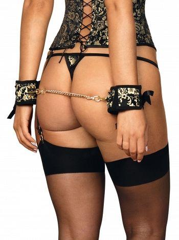 Catuse Shelle cuffs, Obsessive, Negru