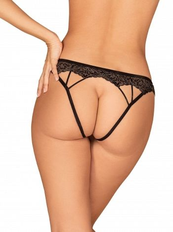 Chilot Meshlove crotchles panties, Obsessive, Negru