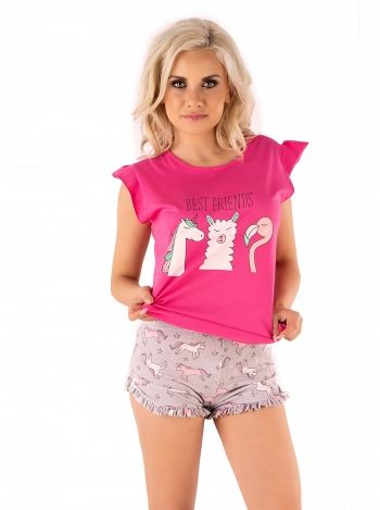 Pijama Lovely Unicorn, LivCo, roz