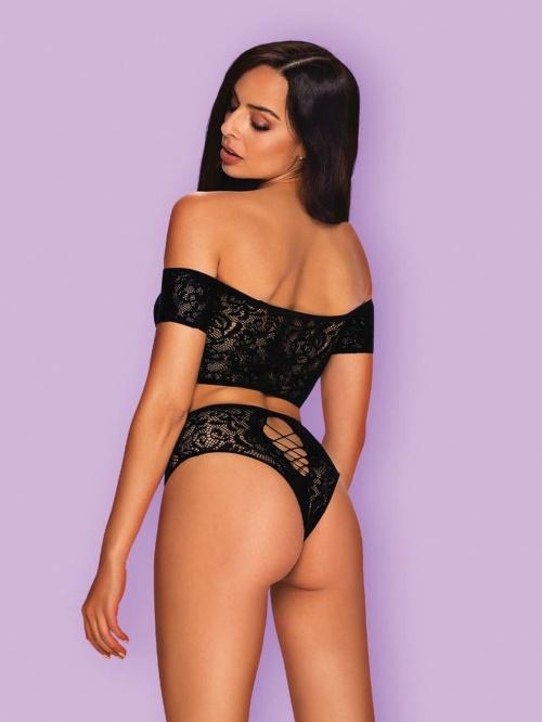 Set sexy Inessita Obsessive, Negru 2